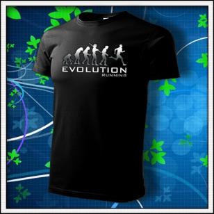 Evolution Running - unisex tričko reflexná potlač