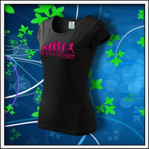 Evolution Running - dámske s ružovou neónovou potlačou