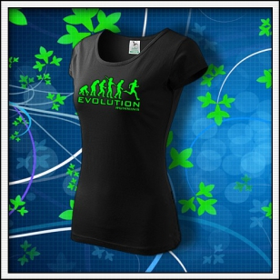 Evolution Running - dámske so zelenou neónovou potlačou