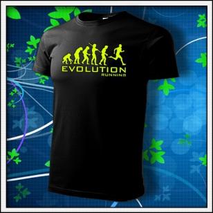 Evolution Running - unisex so žltou neónovou potlačou