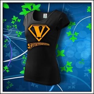 SuperVýchodňár - dámske tričko s oranžovou neónovou potlačou