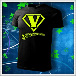 SuperVýchodňár - unisex tričko so žltou neónovou potlačou