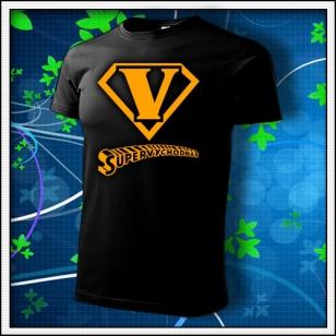 SuperVýchodňár - unisex tričko s oranžovou neónovou potlačou