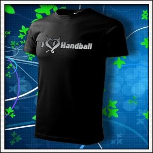 I Love Handball - unisex tričko reflexná potlač