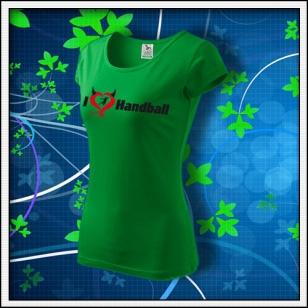 I Love Handball - dámske trávovozelené