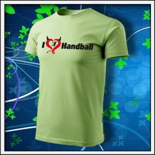 I Love Handball - hráškovozelené