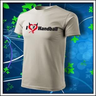 I Love Handball - ľadovosivé