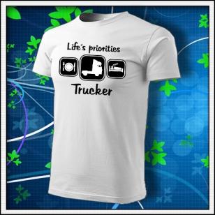 Life´s priorities - Trucker - biele