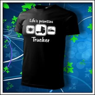 Life´s priorities - Trucker - čierne