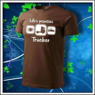 Life´s priorities - Trucker - čokoládové