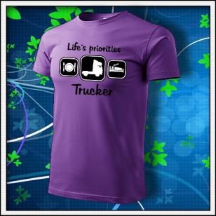 Life´s priorities - Trucker - fialové