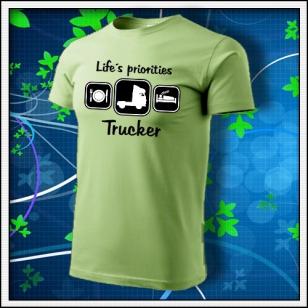 Life´s priorities - Trucker - hráškovozelené