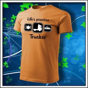 Life´s priorities - Trucker - jantárové