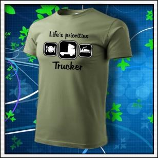 Life´s priorities - Trucker - khaki