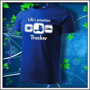 Life´s priorities - Trucker - kráľovské modré