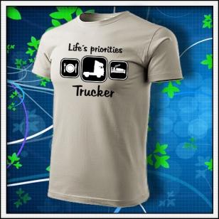 Life´s priorities - Trucker - ľadovosivé