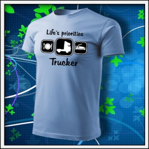 Life´s priorities - Trucker - nebeské modré