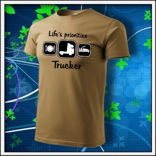 Life´s priorities - Trucker - tabakové