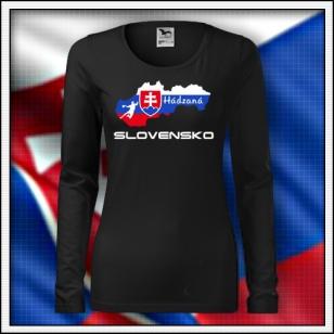 Slovensko - Hádzaná - SLIM dámske čierne