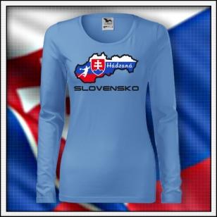 Slovensko - Hádzaná - SLIM dámske nebeské modré