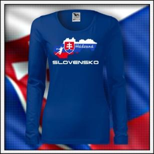 Slovensko - Hádzaná - SLIM dámske kráľovské modré