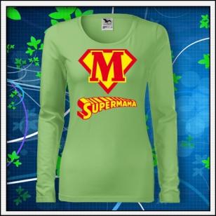 Supermama - SLIM dámske hráškovozelené