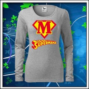 Supermama - SLIM dámske tmavosivý melír