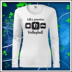 Life´s priorities - Volleyball - SLIM dámske biele