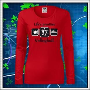 Life´s priorities - Volleyball - SLIM dámske červené