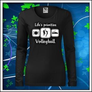 Life´s priorities - Volleyball - SLIM dámske čierne