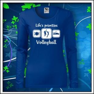 Life´s priorities - Volleyball - SLIM dámske kráľovské modré