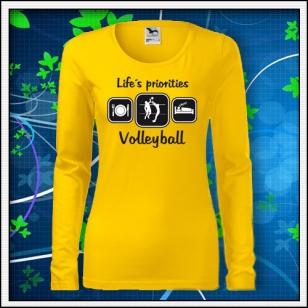 Life´s priorities - Volleyball - SLIM dámske žlté