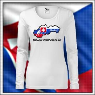 Slovensko - Hokej - SLIM dámske DR biele