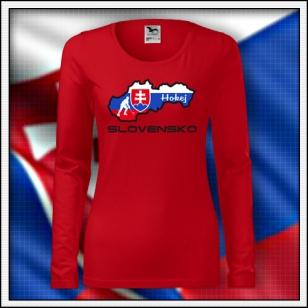 Slovensko - Hokej - SLIM dámske DR červené