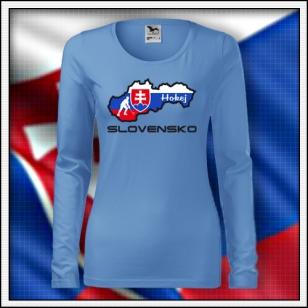 Slovensko - Hokej - SLIM dámske DR nebeské modré