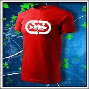 tričko Chyť a pusť - červené