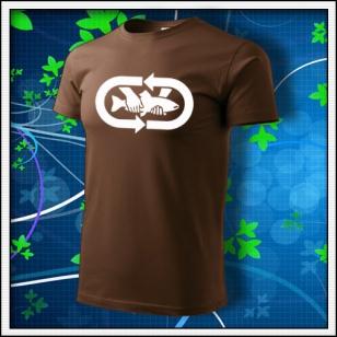 tričko Chyť a pusť - čokoládové