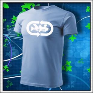 tričko Chyť a pusť - nebeské modré