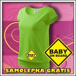 Baby on Board - jablkovo zelené + SAMOLEPKA
