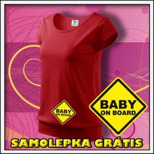 Baby on Board - červené + SAMOLEPKA