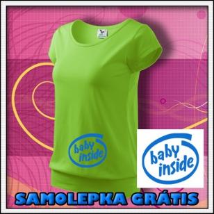 Baby Inside - jablkovo zelené + SAMOLEPKA