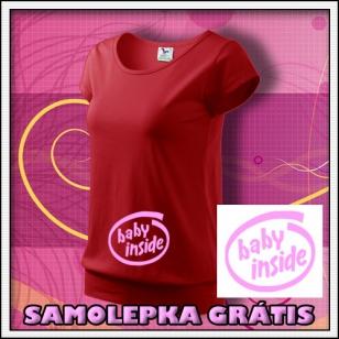 Baby Inside - červené + SAMOLEPKA