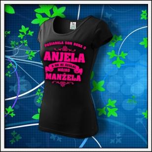 Požiadala som Boha - dámske tričko s ružovou neónovou potlačou