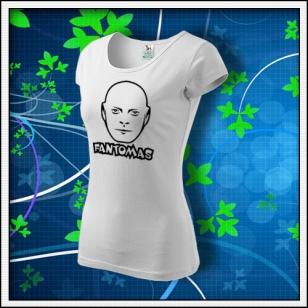 Fantomas - dámske tričko biele