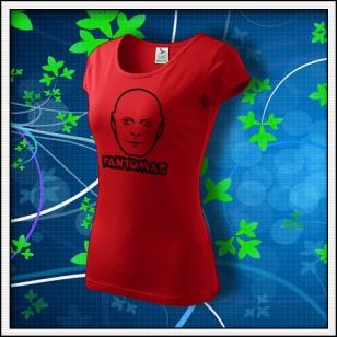 Fantomas - dámske tričko červené