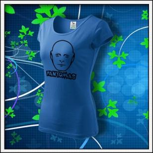 Fantomas - dámske tričko svetlomodré