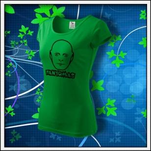 Fantomas - dámske tričko trávovozelené