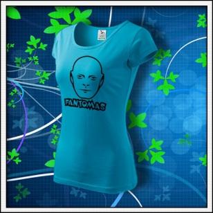 Fantomas - dámske tričko tyrkysové