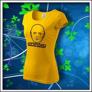 Fantomas - dámske tričko žlté