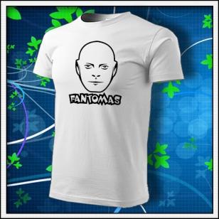 Fantomas - unisex tričko biele